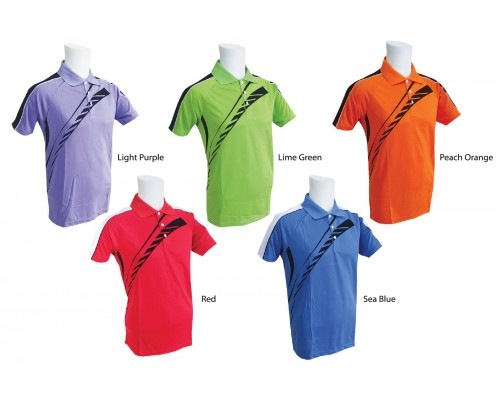 PowerAct Collar T-Shirt with Matching Color (PA7022)