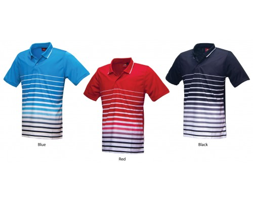 PowerAct Color Sublimation Collar Tee (PA7024)
