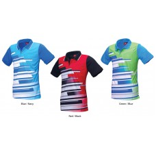 PowerAct Color Sublimation Collar Tee (PA7027)